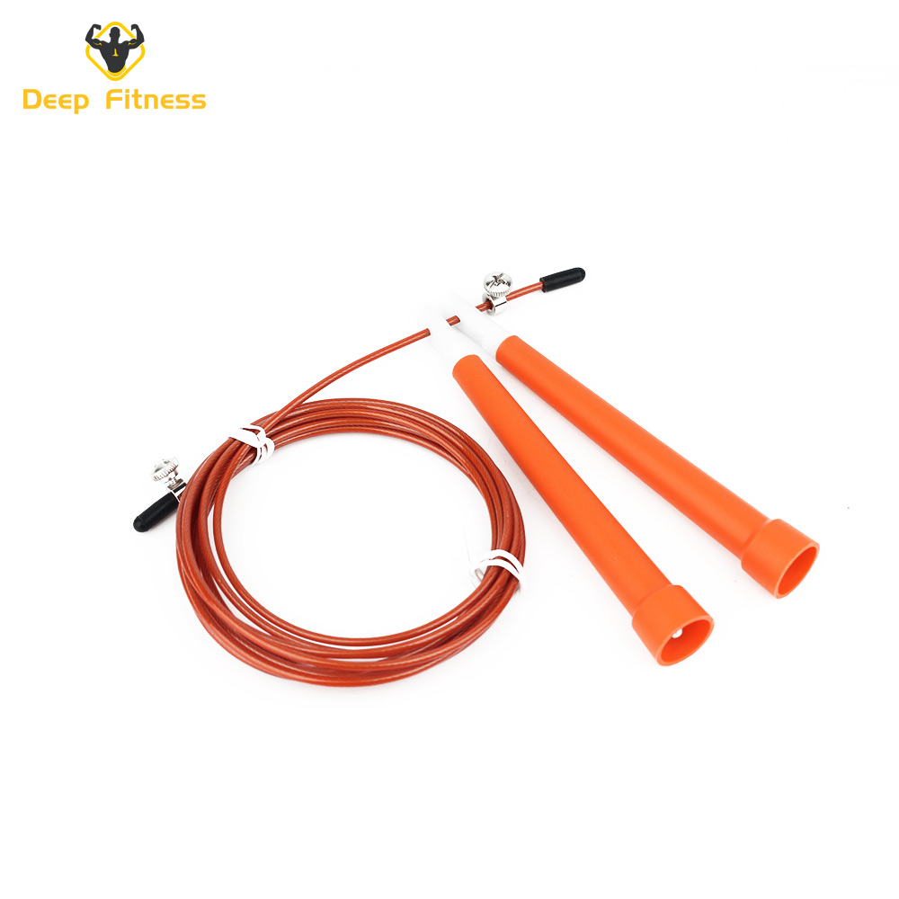 The plastic handle Steel wire rope Fitness Training Jump Rope