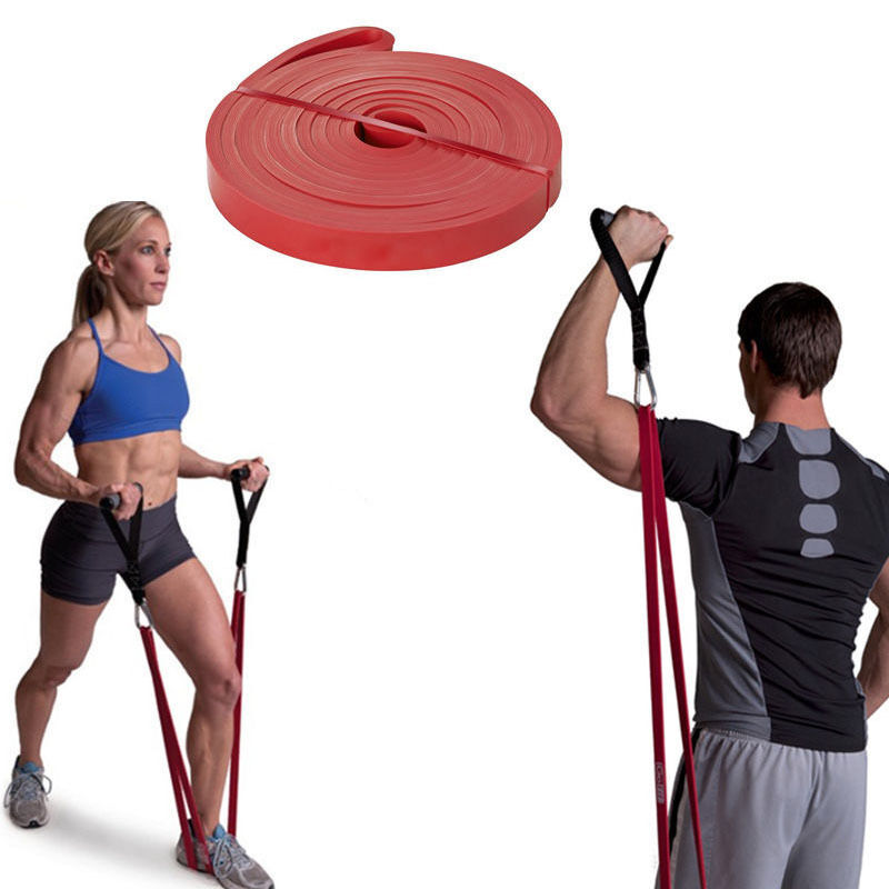 Wholesale Private Label Power Exercise 100% Latex long Resistance Bands