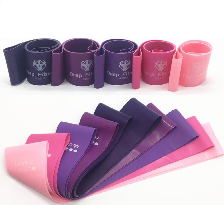 Wholesale best quality custom latex resistance exercise band set / hip fitness band / resistance loop bands