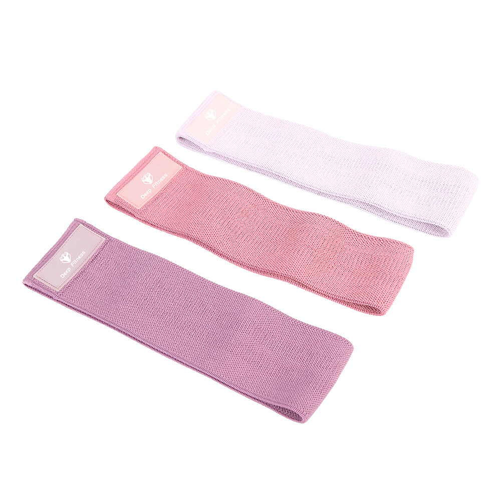Wholesale booty bands fabric material booty resistance bands panther pattern design home yoga fitness bands