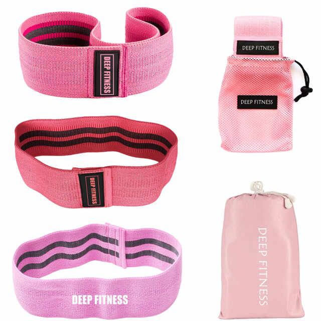 Women Hip Strength Training Fabric Resistance Bands, Home Fitness Hip Circle Wide Anti Slip Exercise Booty Bands