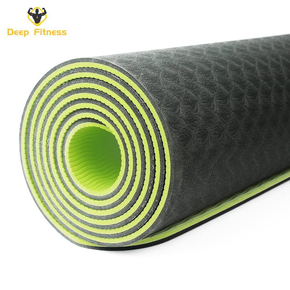 Eco Friendly Durable Color Custom TPE Yoga Mat