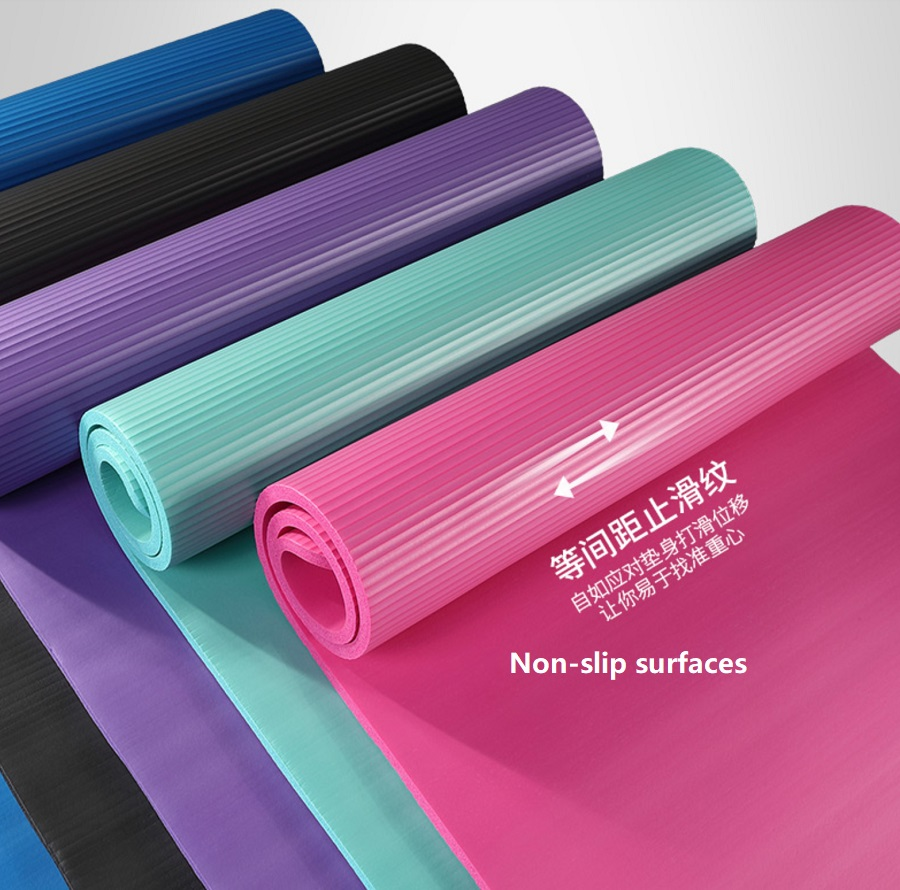 Thick NBR Exercise Mat/ Carrying Strap