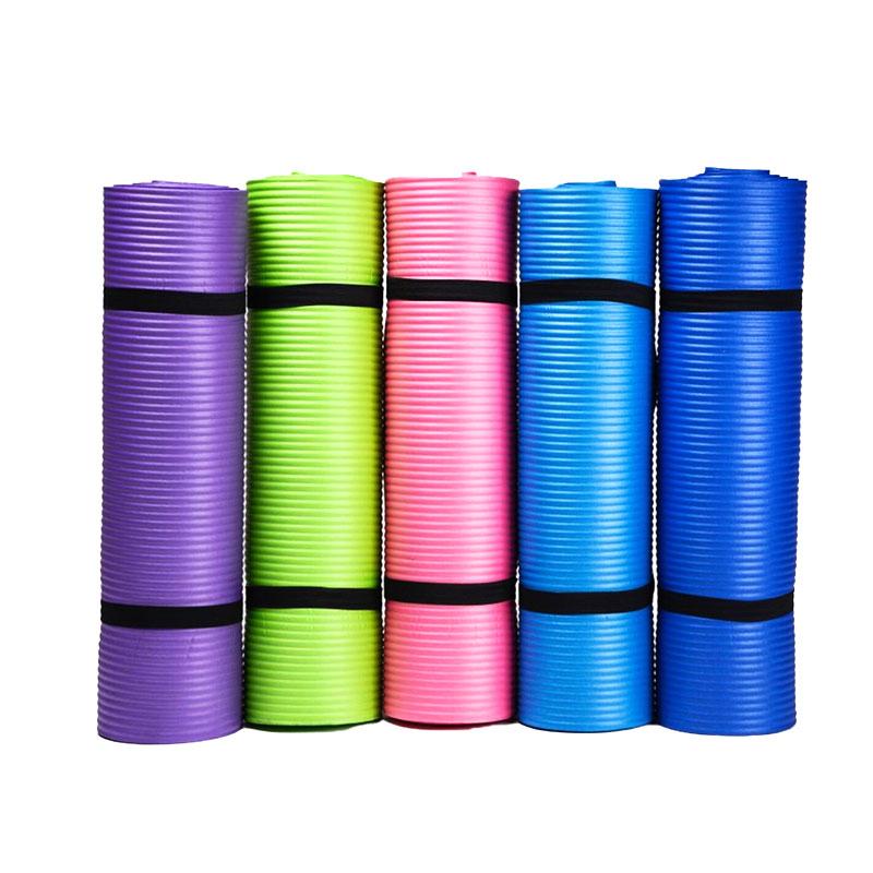 customized label fitness 10mm gym 100% custom nbr exercise yoga mat
