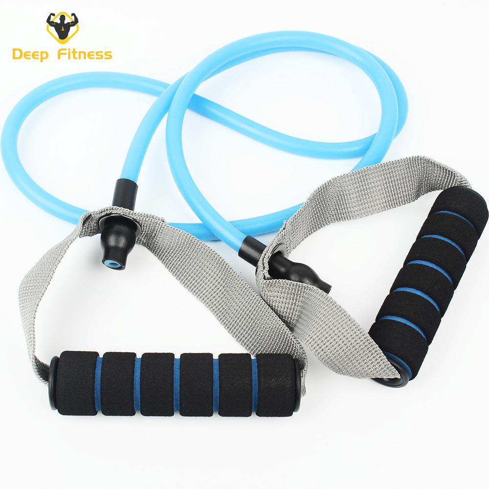 full set handles door anchor ankle straps carry bag tpe tube resistance band set