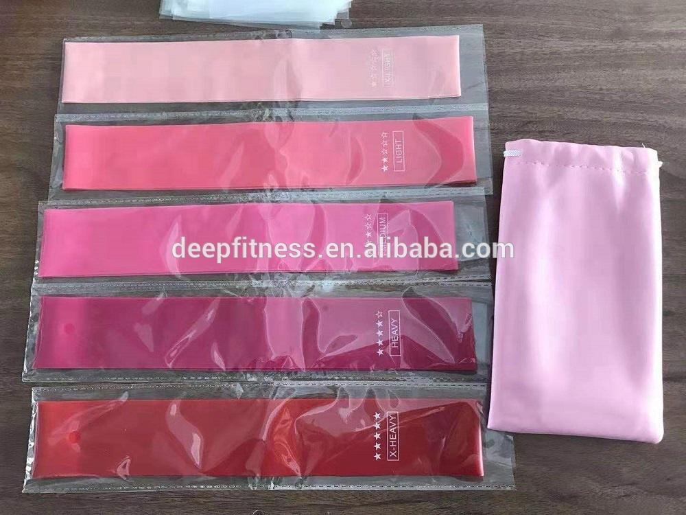 latex resistance loop bands pink, blue 5 levels elastic mini band