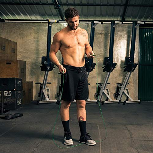 Efficient fat burning skipping rope method