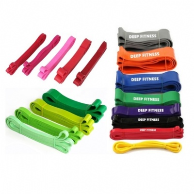 41 inch latex power bands, fitness resistance bands, heavy duty exercise pull up assist band