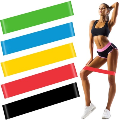 Colorful Latex Resistance Bands, Exercise Bands Set with Instruction Guide & Carry Bag, Strength Workout Bands for Fitness Home Gym