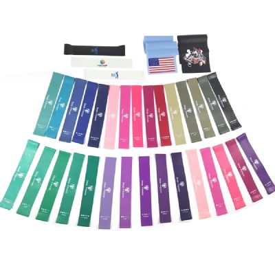 Latest price customized fitness band resistance band loop set of 4 or 5