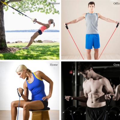 Share 7 resistance band exercises to strengthen and adjust your abs and buttocks