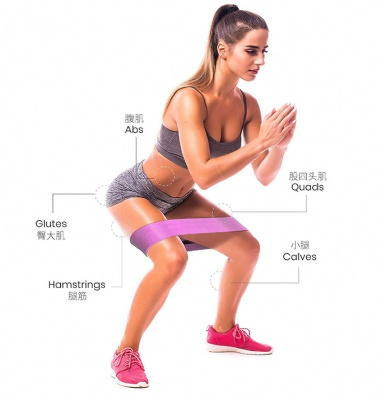 Training of the hip muscles - Fabric hip circle bands