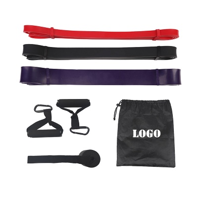 Use pull up assist bands for outdoor exercise