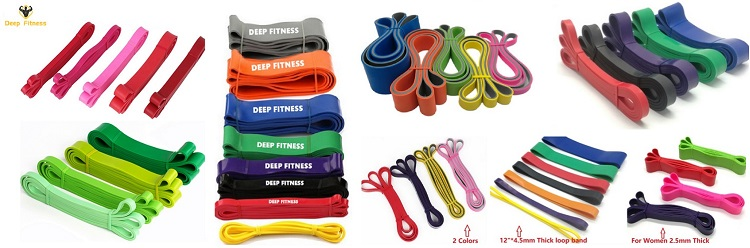 latex resistance band loop pull up assist power super fitness
