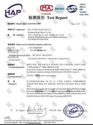 Yoga mat certificate by ROSH