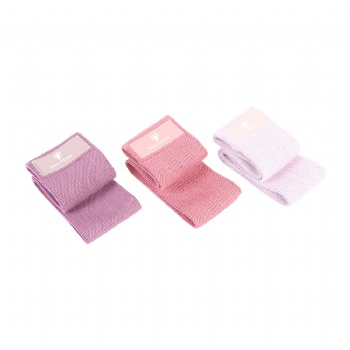2020 Set of 3 Yoga Elastic Stretching Fabric Peach Hip Resistance Band Set
