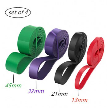 4 pcs Circular pull up Band Customized Power Band Elastic Resistance Bands