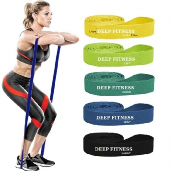 41'' Fabric Pull Up Assistance Bands Set 5 Pack Stretch Resistance Heavy Duty Workout Exercise Bands