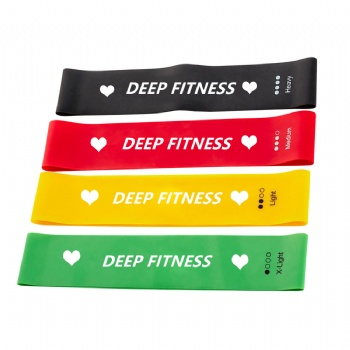 5 Levels Mini Loop Band latex exercise band Yoga loop stretch band