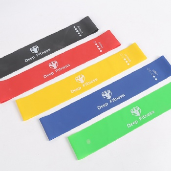 5 level fitness yoga elastic bands exercise natural latex resistance