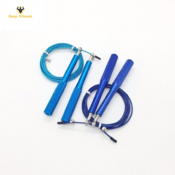 Blue Aluminum Handle Steel Wire Best Weighted speed Jump Rope