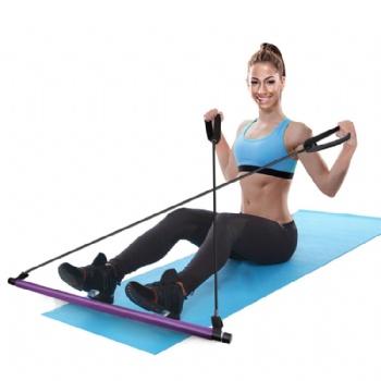 Body Building Yoga Exercise bar Pilates Stick pilates bar with workout Resistance Band
