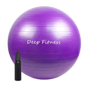 Cheap PVC yoga ball  PVC yoga ball with pump, exercise ball