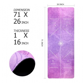 Custom Eco Friendly Digital Printed TPE Suede Yoga Mat