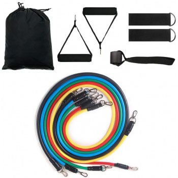 Custom Exercise Sports 11 PCS Tube Resistance Bands Set