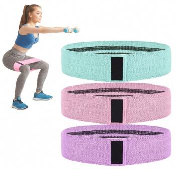 Custom Logo Exercise Fabric Resistance Yoga Bands