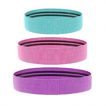 Custom polyester and Cotton Fitness Fabric Elastic Hip Circle Band