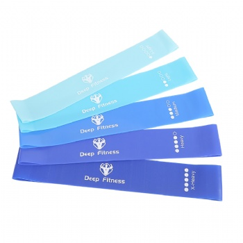 Custom printed Exercise TPE resistance loop bands Latex Free Fitness Yoga Mini rubber Bands
