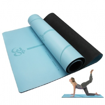 Custom tpe non-toxic non-slip durable yoga mat durable/latex-free non-skid exercise fitness mat