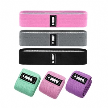 Customize colour and logo Workout Hip exercise 3 resistance levels booty bands