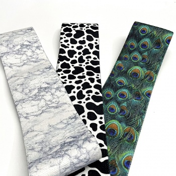 Customized print patterned eco friendly booty bands hip circle band