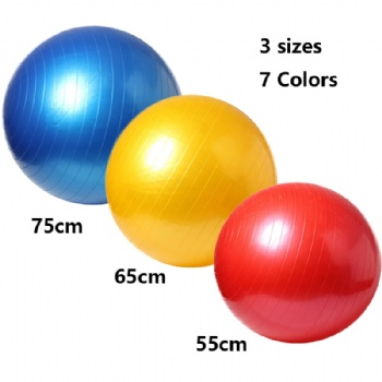 Deep Fitness anti burst PVC custom Yoga Ball Gym Ball Birthing ball