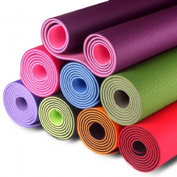 Eco Friendly TPE Yoga Mat 6mm Thickness 8mm thickness non slip yoga mat