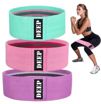 Exercise Fabric Hip Circle Bands Elastic Resistance Loop bands