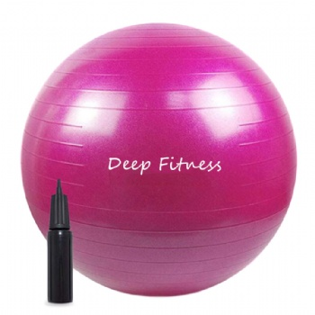 Exercise ball with pump custom printed color scrub yoga ball