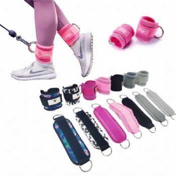 Fitness Ankle Strap for Cable Machines for Kickbacks / Glute Workouts Ankle Straps / Custom Neoprene Ankle Strap Pink Fitness