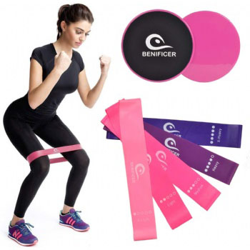 Five Level Elastic Bodybuilding Latex Band Exercise Loop Workout Resistance Bands