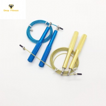 High Speed Ball Bearing Cable Jump Rope with Aluminum Handle