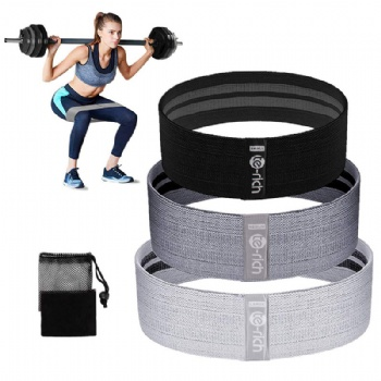 Home workout elastic exercise hip band/booty circle band/booty belt for Glute