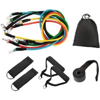 Hot selling 11 pcs resistance bands tube band set