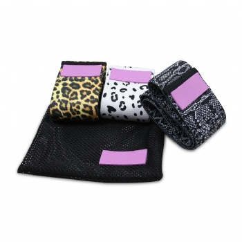 Leopard Stretching Exercise Circle Booty Resistance Bands Glute Hip