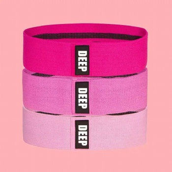 Non Rolling Fabric Resistance Bands Exercise Set of 3 Booty Bands
