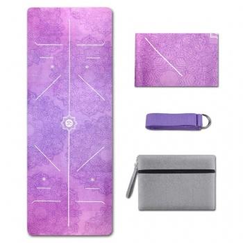 Non-Slip Suede Custom Fold Logo Printed Yoga Mat