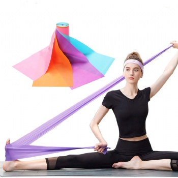 Pilates Exercise Bands, Latex Resistance Belt, Yoga Stretch Band, Theraband