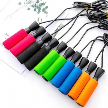 Plastic Handle Steel Wire with PVC Fitness Adjustable Jump Rope
