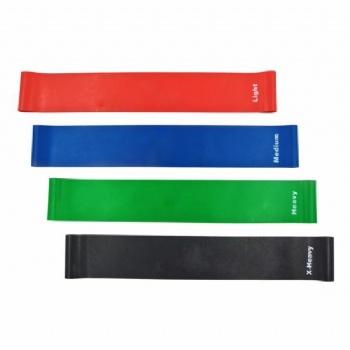 Popular Custom Color Fitness Latex Exercise Yoga Workout Resistance Bands